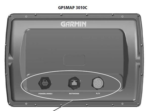 Garmin GPSMAP 3010C - Rear Connections