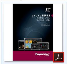 Raymarine eSeries - Installation Manual