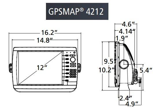 Garmin GPSMAP 4212 - Dimensions