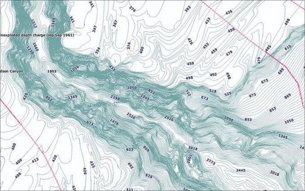 GPSMAP 942xs Touch - BlueChart g3 1 foot contours