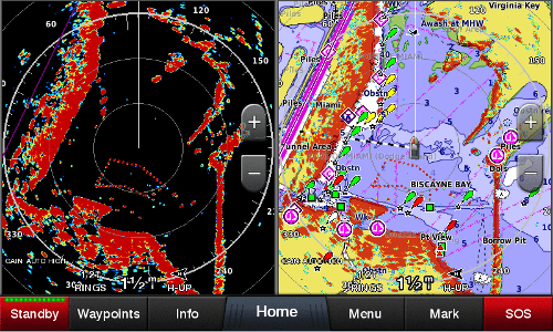 Garmin 742xs Charting and Radar