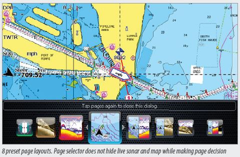 Lowrance Elite-7 HDI Page Selector