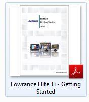 Lowrance EliteTi | Getting Started Manual