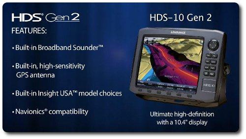 Lowrance HDS-10 Gen2 - Features
