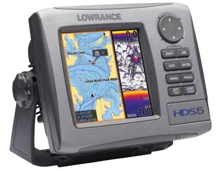 Lowrance HDS-5 Gen1 - Split Screen