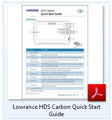 Lowrance HDS Carbon Quick Start Guide