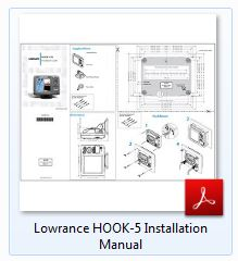 Lowrance Hook-5 Installation Manual