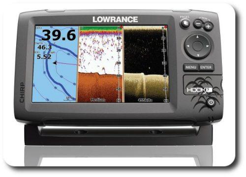 Lowrance Hook-7 Split Screen