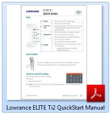 Lowrance ELITE Ti2 QuickStart Manual