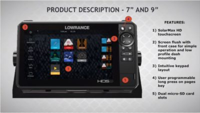 Lowrance HDS-7 LIVE - Front Face