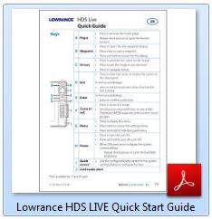 Lowrance HDS LIVE Quick Start Guide