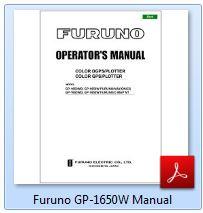 Furuno GP-1650W Manual