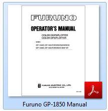 Furuno GP-1850 Manual