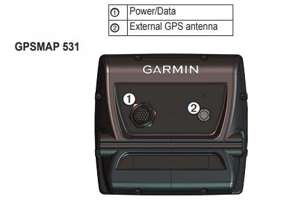 Garmin GPSMAP 531s - Rear Connections