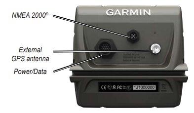 Garmin GPSMAP 541s - Rear Connections