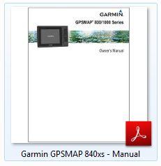 Garmin GPSMAP 840xs - Manual