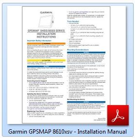 Garmin GPSMAP 8610xsv - Installation Manual