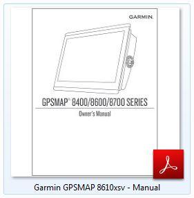 Garmin GPSMAP 8610xsv - Manual