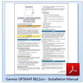 Garmin GPSMAP 8612xsv - Installation Manual