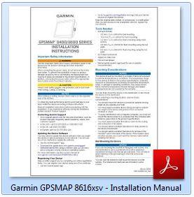 Garmin GPSMAP 8616xsv - Installation Manual
