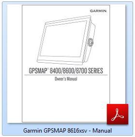Garmin GPSMAP 8616xsv - Manual