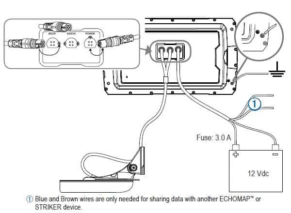 Garmin Striker Plus 7sv - Connections
