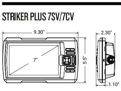 Garmin Striker Plus 7sv - Dimensions