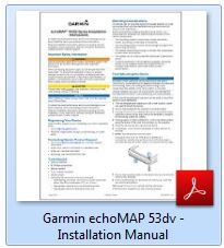 Garmin echoMAP 53dv - Installation Manual