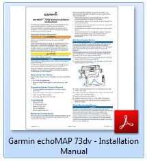 Garmin echoMAP 73sv - Installation Manual