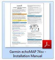 Garmin echoMAP 74sv - Installation Manual