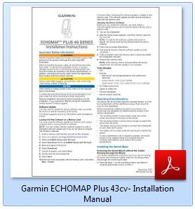 Garmin ECHOMAP Plus 43cv - Installation Manual
