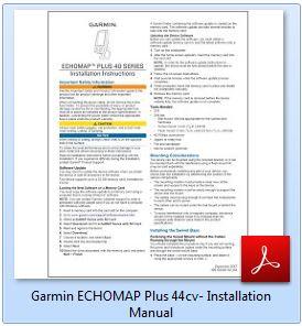 Garmin ECHOMAP Plus 44cv - Installation Manual