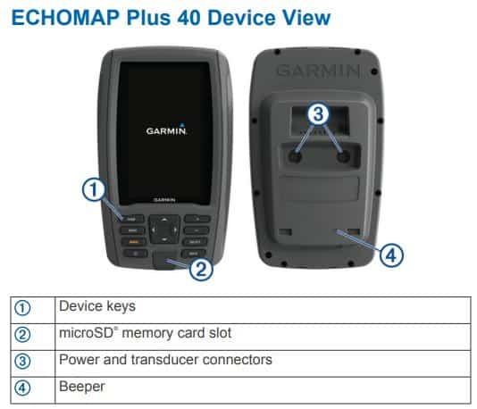 Garmin ECHOMAP Plus 44cv - TouchPad Control