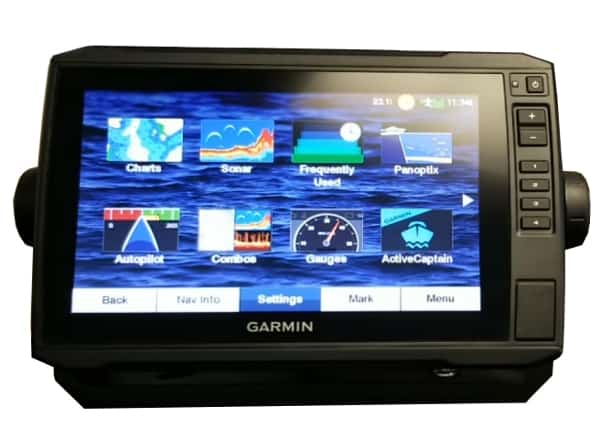 Garmin ECHOMAP Plus 93sv | Menu Screen
