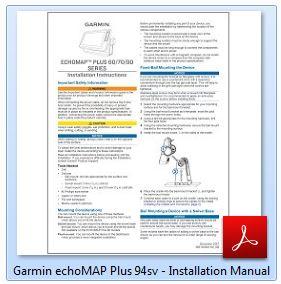 Garmin ECHOMAP Plus 94sv - Installation Manual