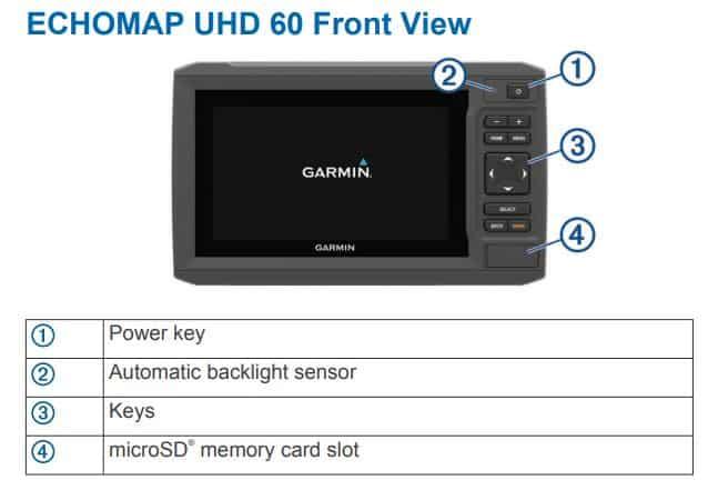 Garmin ECHOMAP UHD 63cv - Touchpad Control