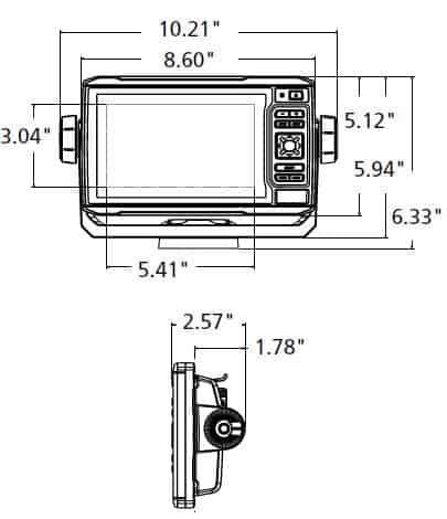 Garmin ECHOMAP UHD 64cv - Dimensions