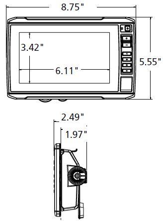Garmin ECHOMAP UHD 73cv - Dimensions