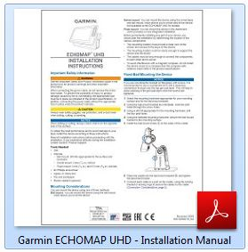 Garmin ECHOMAP UHD 73sv - Installation Manual
