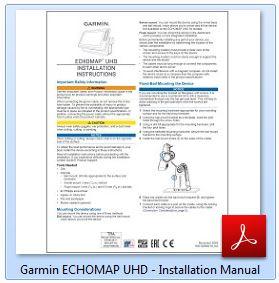 Garmin ECHOMAP UHD 74cv - Installation Manual