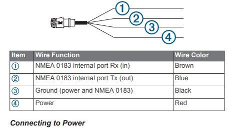 Garmin ECHOMAP UHD 74cv - Power Connections