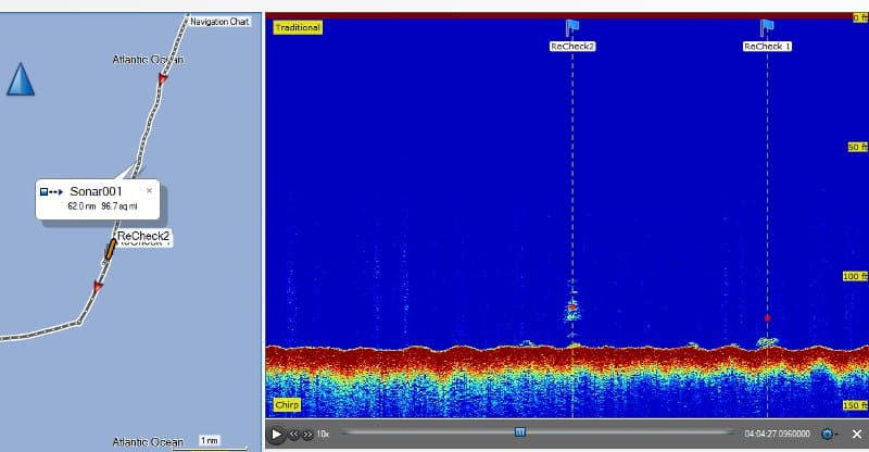 Garmin ECHOMAP Plus 93sv - Sonar Recording