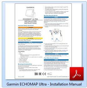 Garmin ECHOMAP Ultra 126sv - Installation Manual