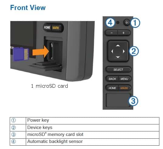 Garmin EchoMAP CHIRP 74cv - Keypad Control