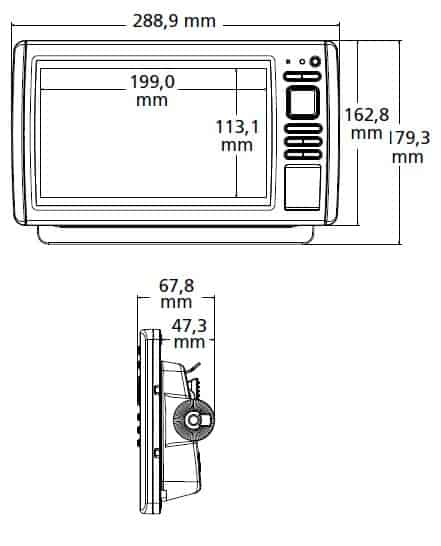 Garmin EchoMAP CHIRP 93sv | Dimensions