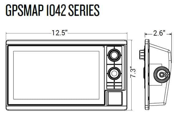 Garmin GPSMAP 1042xsv - Dimensions