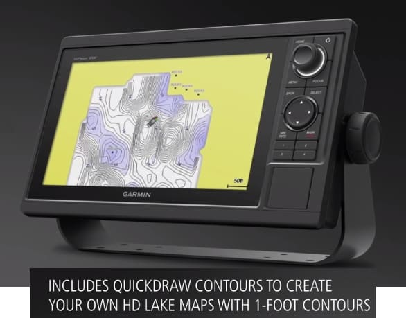 Garmin GPSMAP 1242xsv - Quickdraw Contours