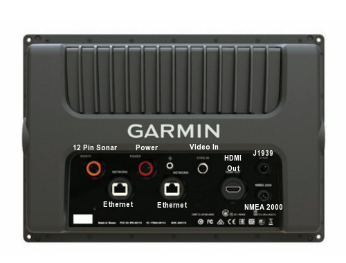 Garmin GPSMAP 1242xsv Touch - Rear Connections