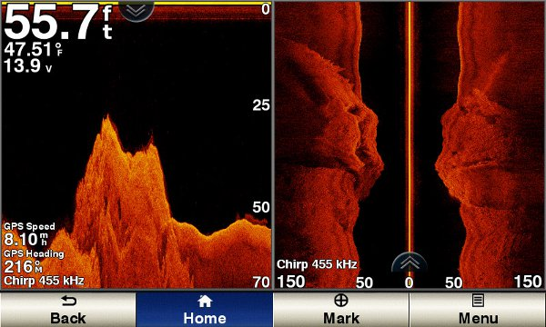 ECHOMAP UHD 74sv - SideVu Sonar Shallow