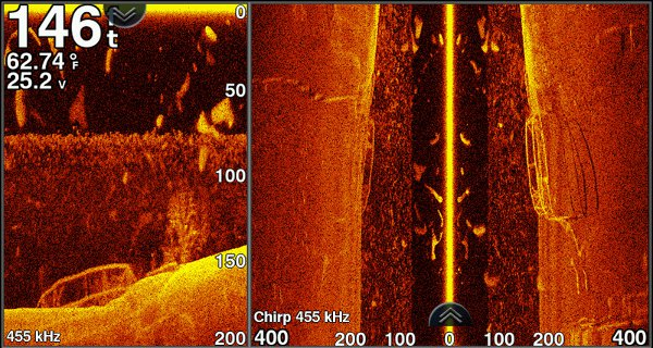 Garmin echoMAP CHIRP 74sv - SideVu Sonar